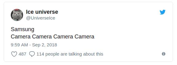 4 камеры на задней панели смартфона Samsung - в 2018 году?