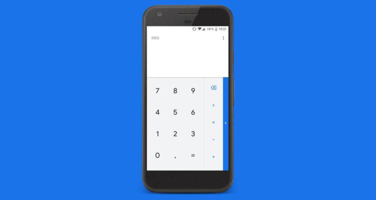 Калькулятор Google теперь в Material Design 2.0