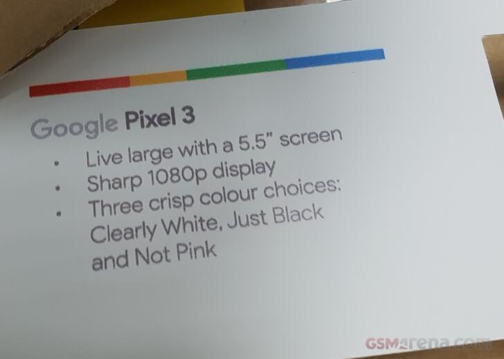 Google Pixel 3 и 3 XL - характеристики экранов и цвета