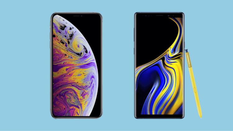 iPhone XS Max или Galaxy Note 9: что предпочтут потребители?