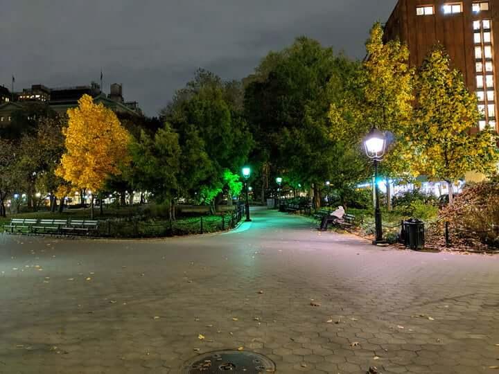 Ночная съемка Google Pixel 3