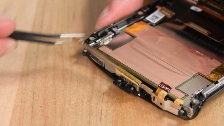 У какого телефона самая сложная конструкция?