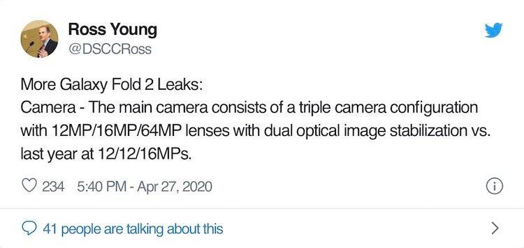 Стала известна цена Samsung Galaxy Fold 2. Это почти чудо