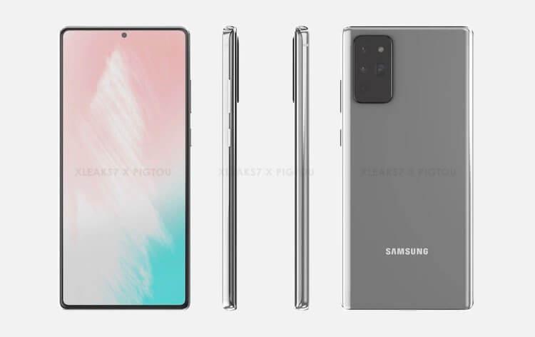 Утечка показала, как будет выглядеть Samsung Galaxy Note 20