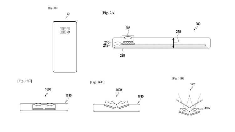 Samsung запатентовала подвижную камеру для смартфонов нового поколения