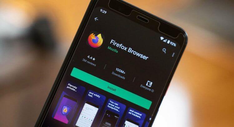 Firefox в Google Play
