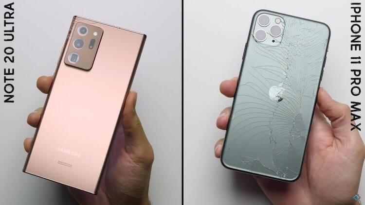 Samsung не соврала. Galaxy Note 20 прочнее даже iPhone 11 Pro Max