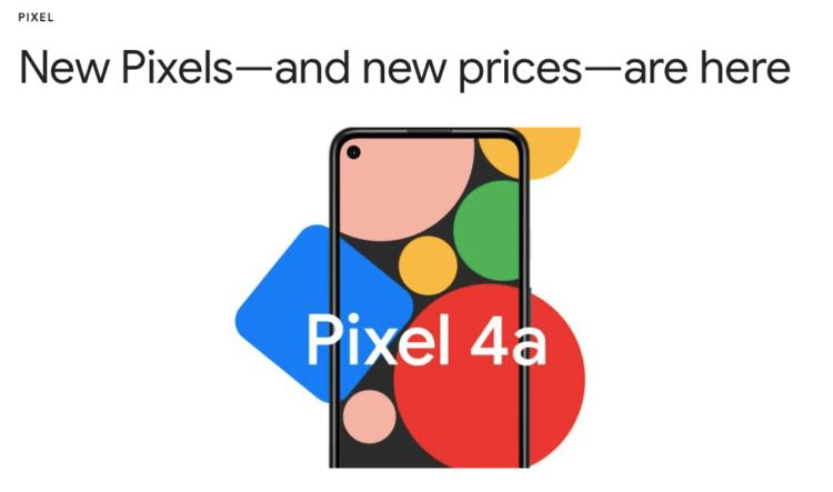 Google представила Pixel 4a. Самый уникальный и дешёвый Pixel из всех