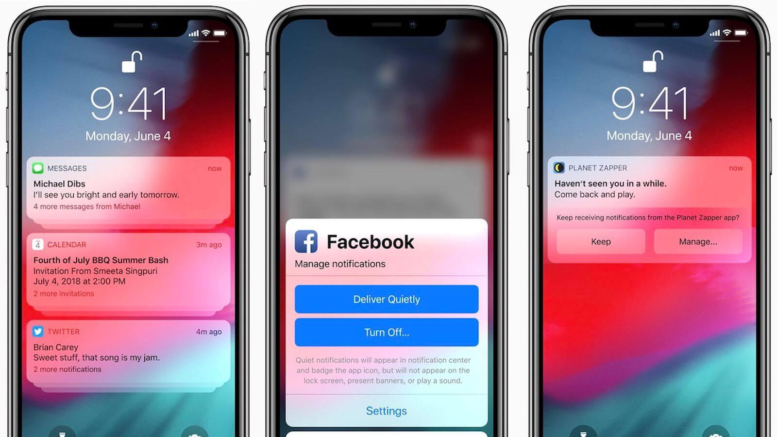 Уведомления на iOS