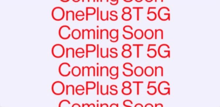 OnePlus8t soon