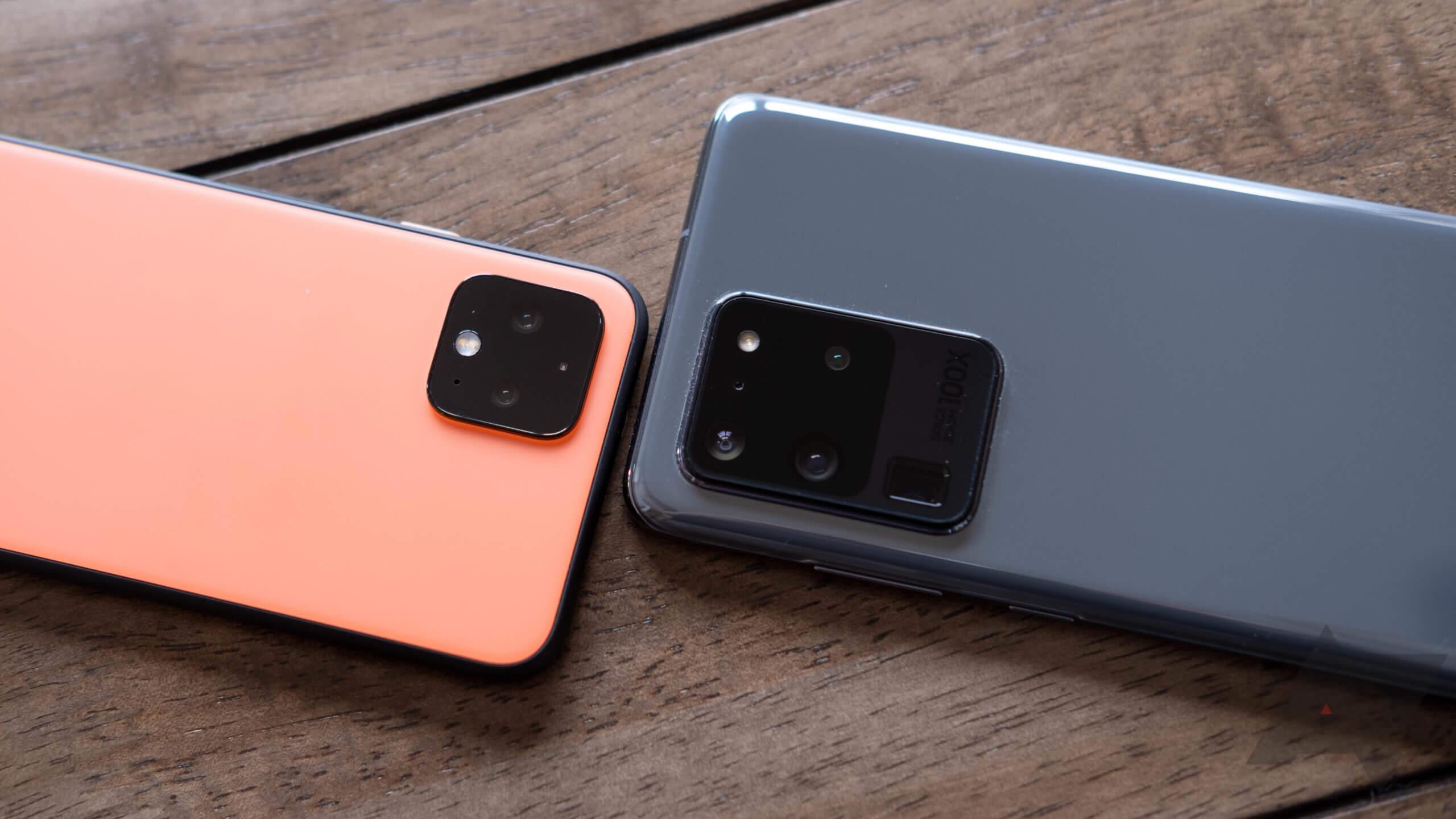 Pixel 4 и Galaxy S20