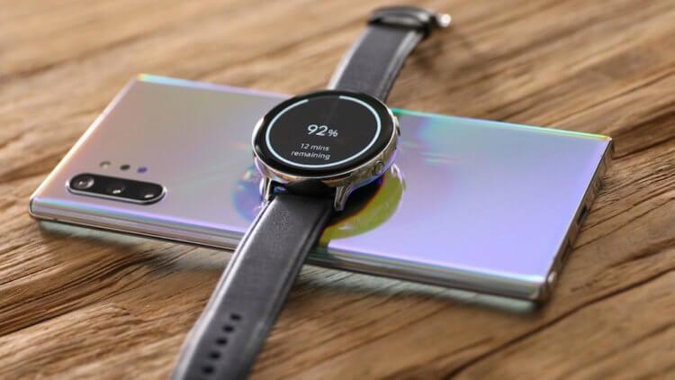 Зарядка часов смартфоном