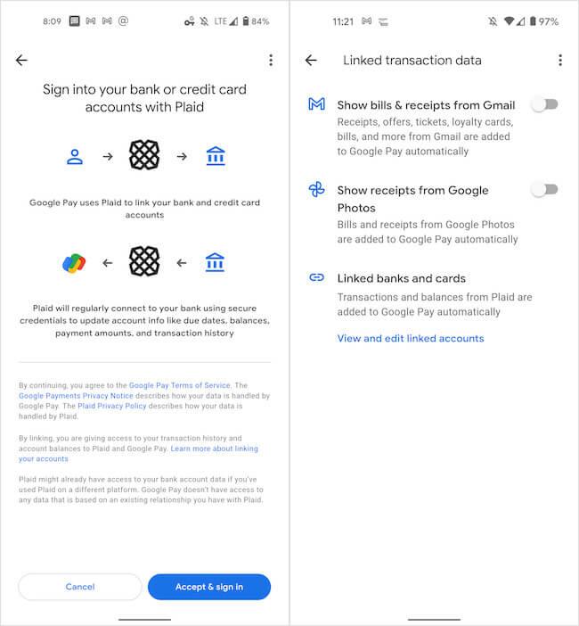 Переводы Google Pay
