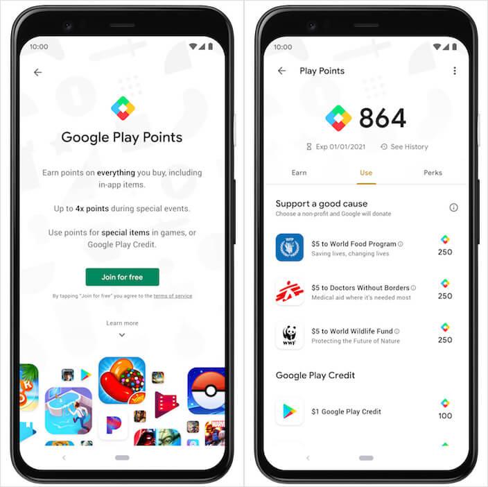 Кэшбек в Google Play