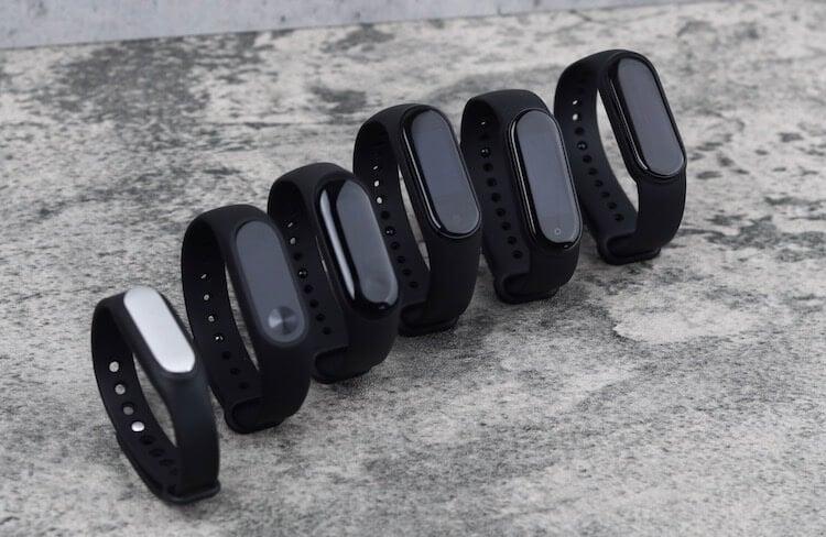 Xiaomi собрала вместе все версии браслета Mi Band. Вот что получилось