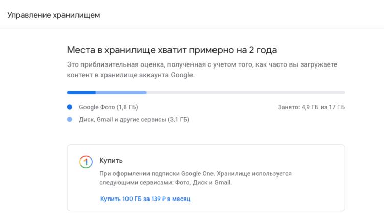 Почему не отключилось безлимитное хранилище в Google Фото