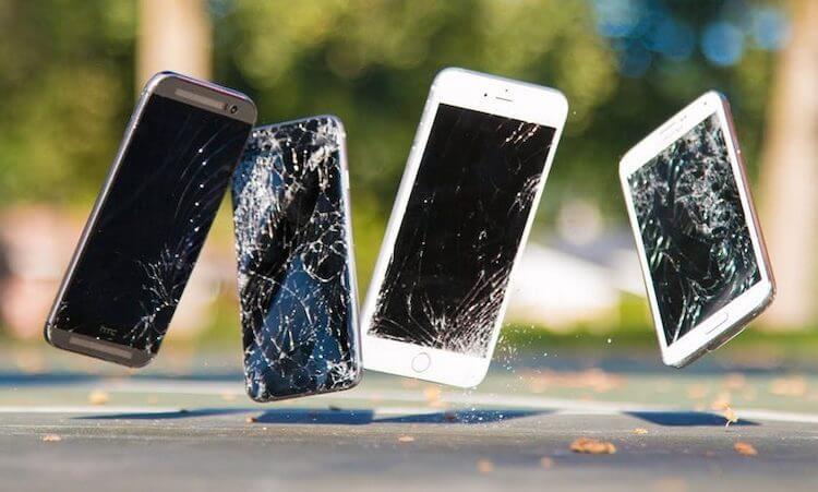 Что будет, если уронить телефон с высоты больше 1 метра